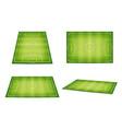 soccer field football pitch set fields vector image