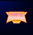 sport emblem typography super star hero logotype vector image