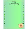 St Patrick day invitation or menu vector image vector image