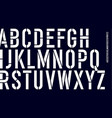 stencil font black and white condensed alphabet vector image