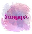 summer lettering on background imitation vector image