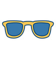 sunglasses isolated symbol vector image vector image