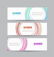 template of a white banner with abstract circles vector image