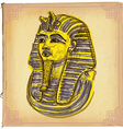 Tutankhamun - An hand drawn sketch freehand vector image