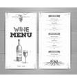 Vintage wine menu design vector image vector image