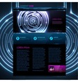 Web site template design Technology background vector image
