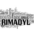 what your vet may not tell you about rimadyl text vector image vector image