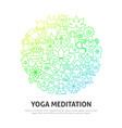 yoga meditation circle concept vector image