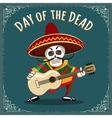Day of the Dead Mexican Musician vector image