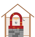 draw well with brick vector image
