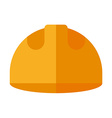 Builder helmet Flat isolated on white Safety hat vector image