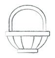 empty basket symbol vector image