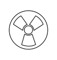 nuclear energy symbol isolated icon vector image