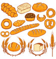 set of bread fresh bakery design elements for vector image