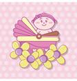 baby shower cartoons vector image vector image