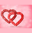 background for valentine vector image vector image