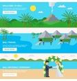Bali Travel Banners Set vector image vector image
