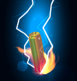 battery power thunder vector image