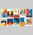 bauhaus forms square tiles with modern geometric vector image