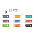 big data infographic 10 option line concept vector image vector image