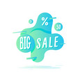big sale sticker retail tag in liquid style vector image vector image