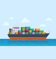 cargo ship vessel port export or import tanker vector image