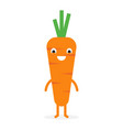 carrot cute vegetable character vector image vector image