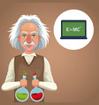 character scientist physical with test tube vector image vector image
