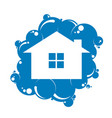 cleaning the house symbol vector image