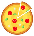 colorful pizza slice fast food icon poster vector image vector image