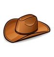 cowboy hat design concept vector image vector image