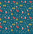 cute christmas seamless pattern christmas and new vector image