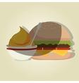 delicious burger design vector image