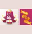 diwali festival indian offer design vector image vector image