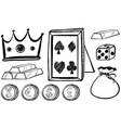 Doodles set with crown and coins