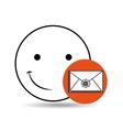 emoticon happy email concept vector image