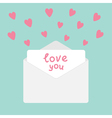Envelope with hearts Love you card vector image vector image