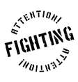 Fighting rubber stamp vector image vector image