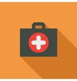 First Aid Flat Long Shadow Square Icon vector image