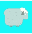 Flat hand drawn icon of a cute sheep vector image vector image