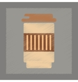 flat shading style icon coffee to go vector image