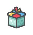 gift box with ribbon icon cartoon vector image