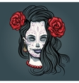 Girl with Sugar Skull Makeup vector image vector image