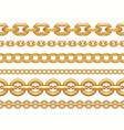 golden chain set seamless realistic vector image