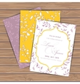 Greeting cards with flowers vector image vector image