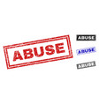 grunge abuse scratched rectangle watermarks vector image vector image