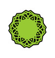 halal template for islamic pattern logo for vector image