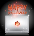 halloween laptop vector image vector image