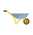 house wheelbarrow icon flat style vector image