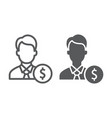 investor line and glyph icon finance and banking vector image vector image